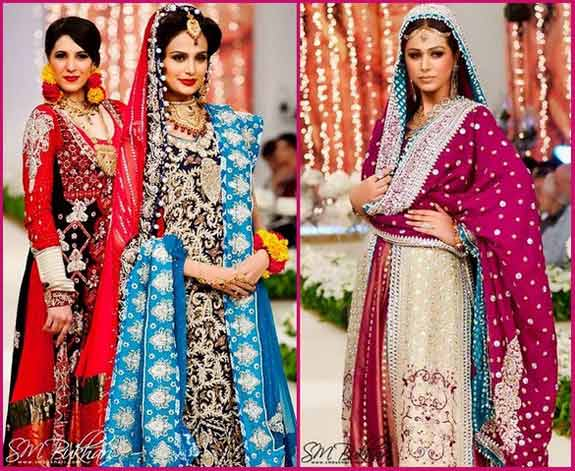 5 style of pakistani bridal dresses