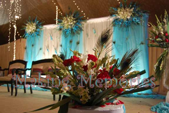 Mehndi Flower Arrangements : Top themes for pakistani wedding and mehndi decor