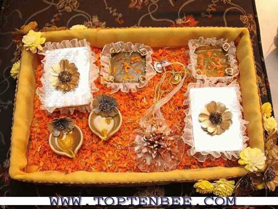 Mehndi And Mayon Decoration : Mehndi thaals ideas wedding pakistani